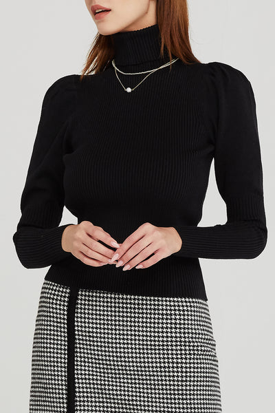 Sadie Puff Sleeve Knit Top