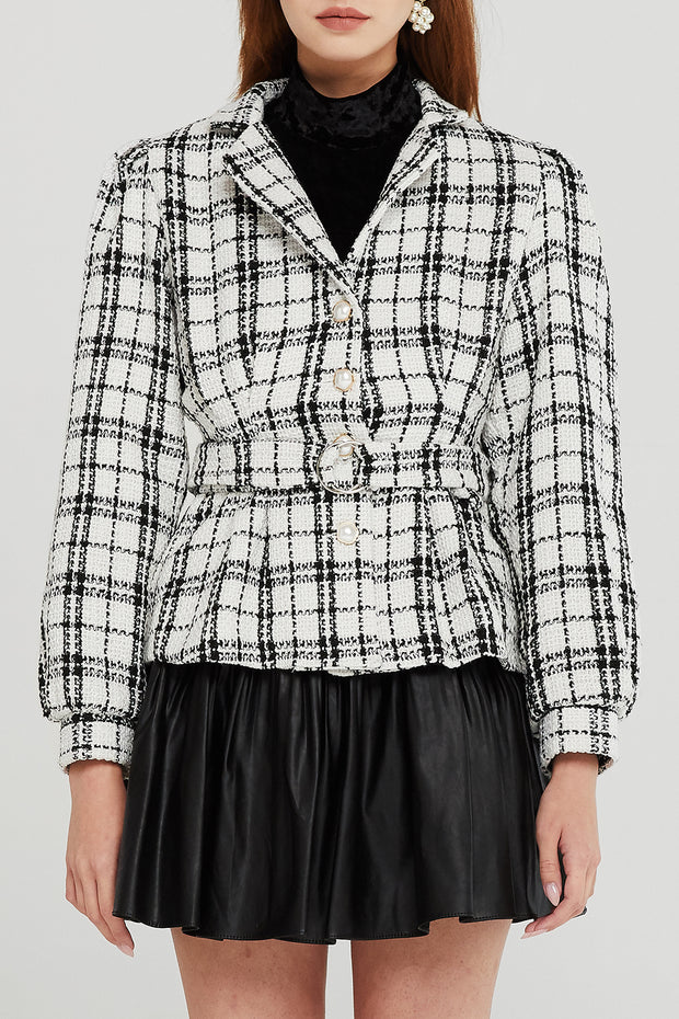 Lucy Plaid Tweed Jacket
