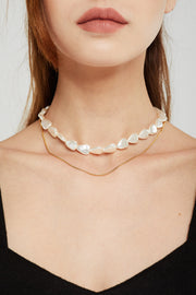 Pearl Choker Layered Necklace