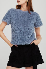 Adeline Cropped Borg Top