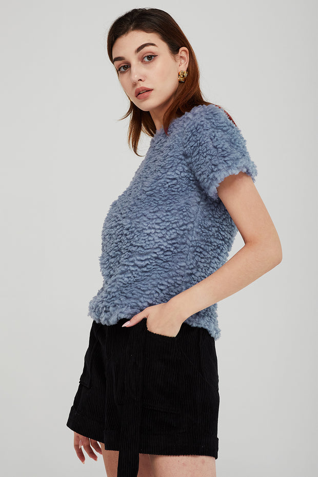 storets.com Adeline Cropped Borg Top