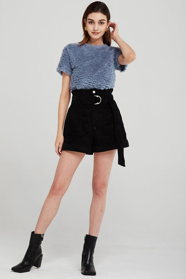 Annie Belted Cord Shorts