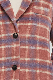 Serenity Plaid Long Coat