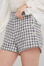 Dylan Houndstooth Tweed Shorts