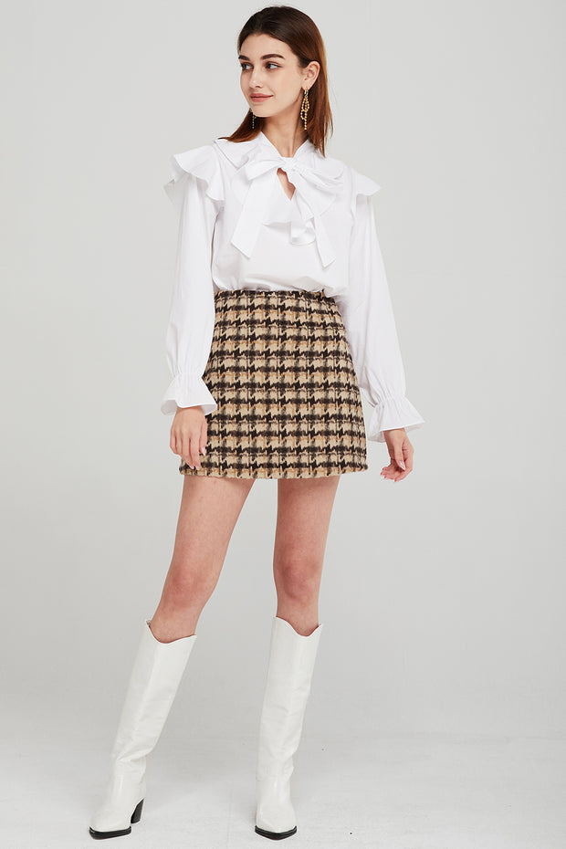 Kate Multi-Color Houndstooth Skirt