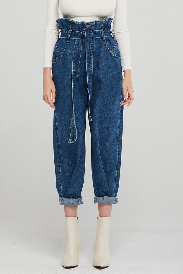 Kinley Paperbag Waist Mom Jeans