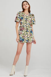 Elizabeth Floral Jacquard Dress