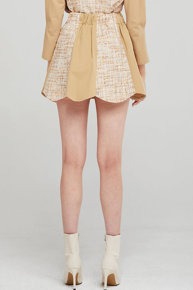 Alexa Tweed Spliced Skort