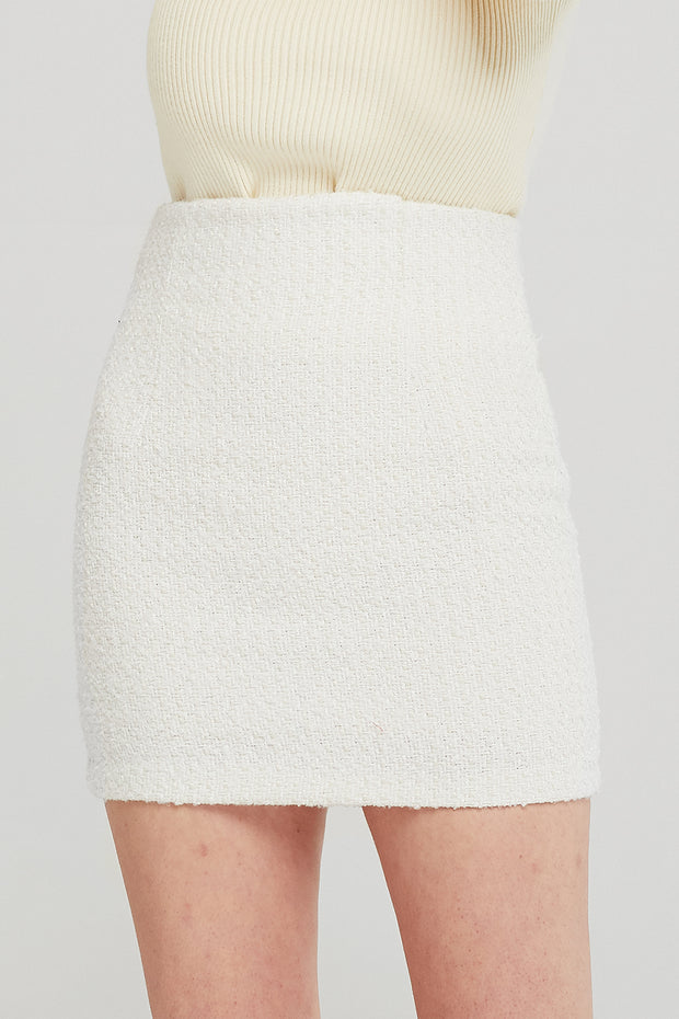 Sofia High Waist Tweed Skirt