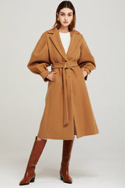 storets.com Isabella Structured Puff Sleeve Coat
