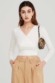 Diana Surplice Crop Top