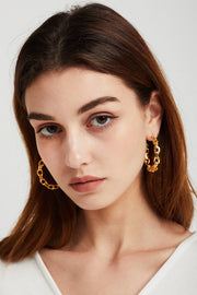 Link Chain Hoop Earrings