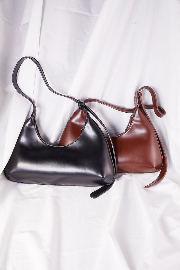 Pleather Hobo Bag