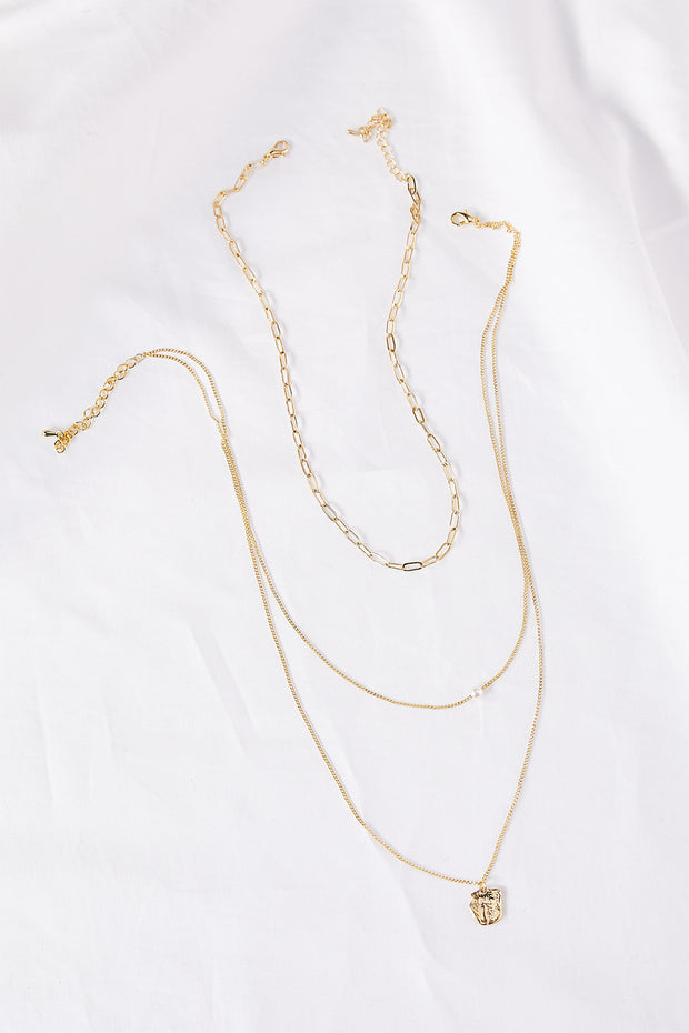 storets.com Multi-Chain Layered Necklace w/Mini Pendant