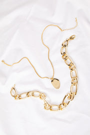 storets.com Bold Chain Choker Layered Necklace