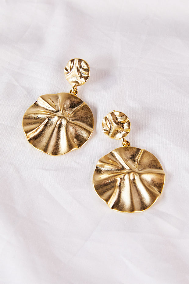 Wrinkly Dangle Earrings