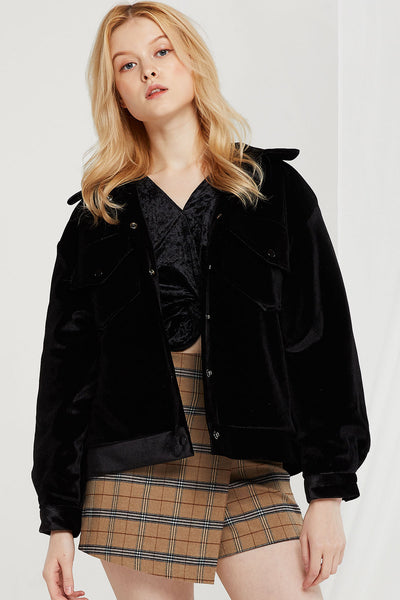 Kelly Plush Velvet Jacket