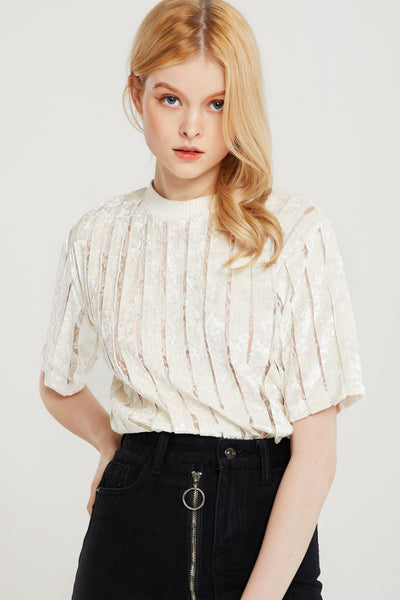 Marianne Velvet Striped Top