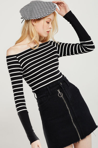 Gina Striped Off The Shoulder Top