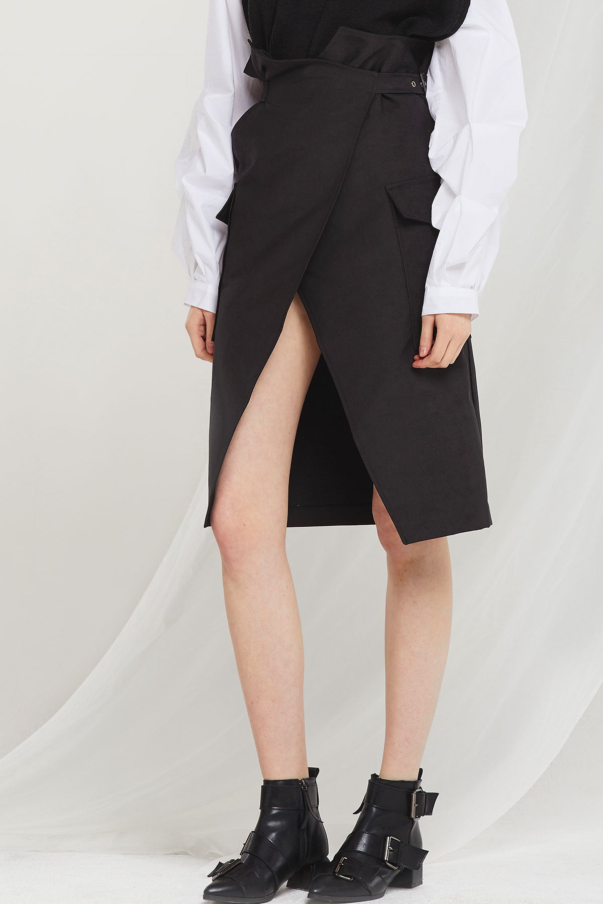 Rina Belted Wrap Skirt