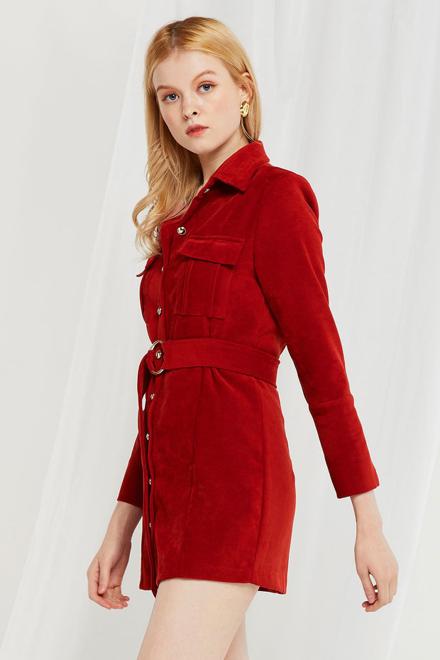 Rory Pocket Shirt Dress