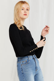 Bryn Button Sleeve Top