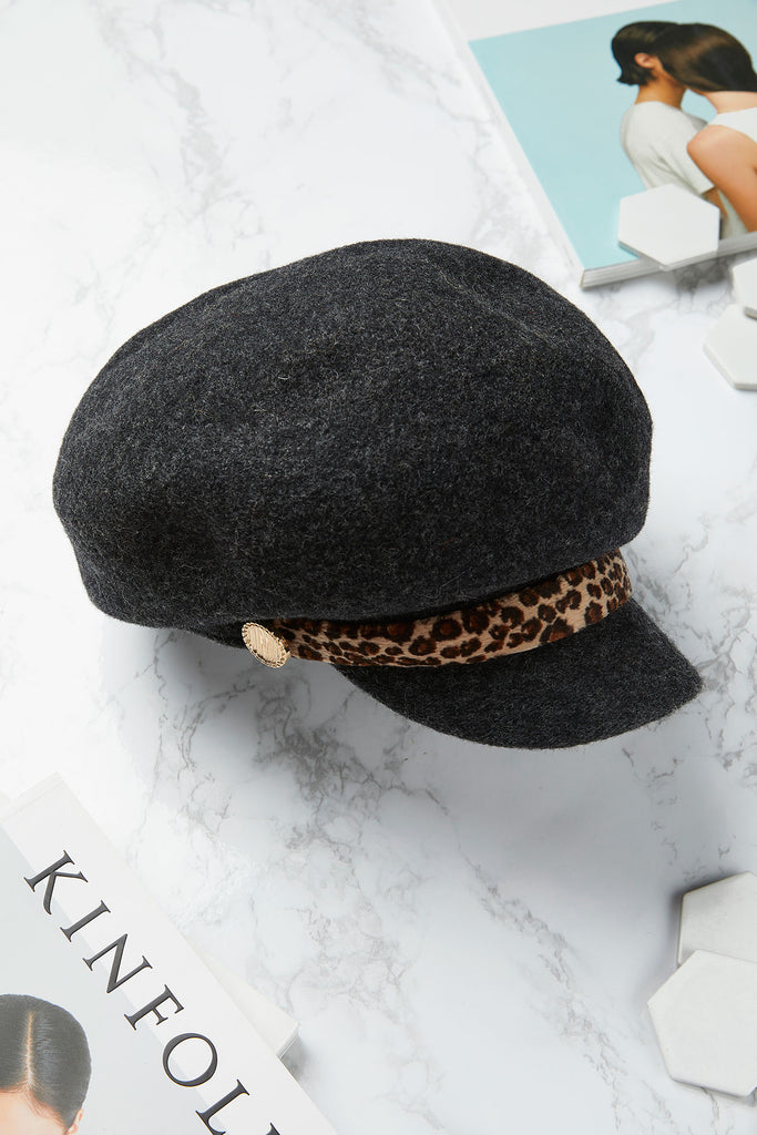 Felt Printed Band Newsboy Hat