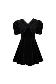 [MARGARIN FINGERS] cross Frill dress
