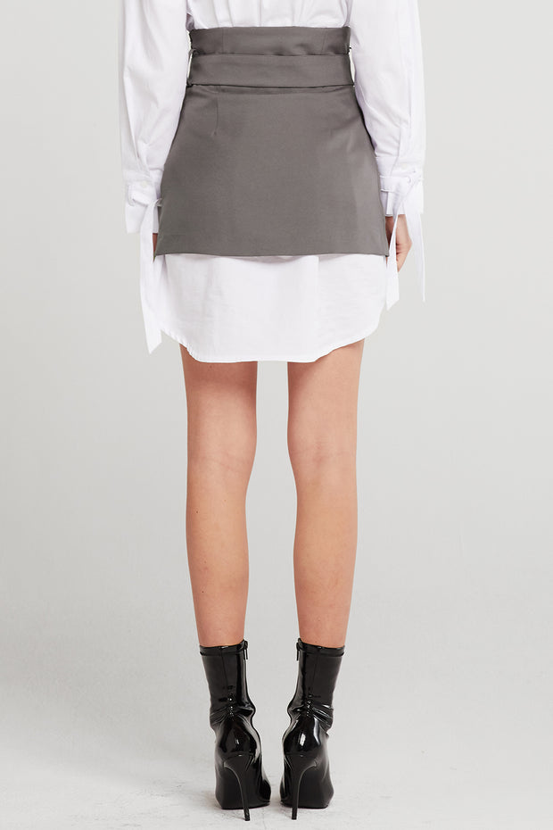 storets.com Nicole Double Breasted Mini Skirt