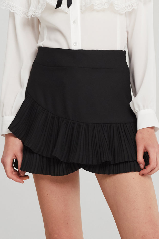 Aria Tiered Pleated Ruffle Skirt