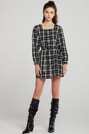 Lisa Plaid Belted Dress