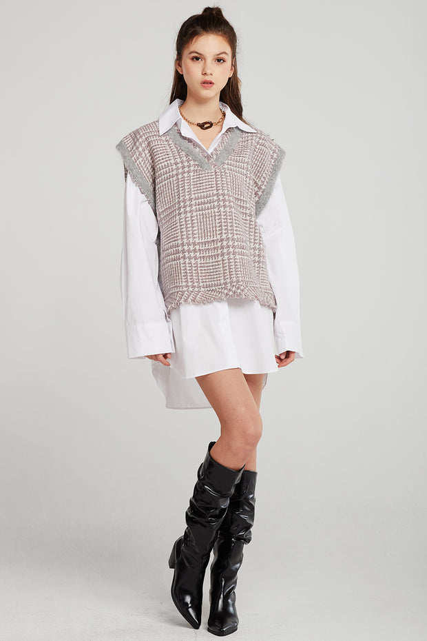 Brooklynn Oversized Plaid Vest