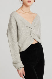 storets.com Jane Twist-Front Knit Top