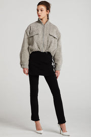storets.com Alice Herringbone Crop Jacket