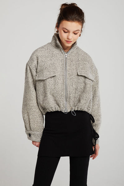 Alice Herringbone Crop Jacket