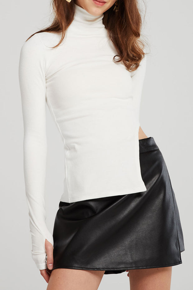 Brooke Asymmetric Cut Out Top