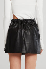 Morgan Pleather Skort