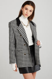 Alexa Oversized Houndstooth Jacket