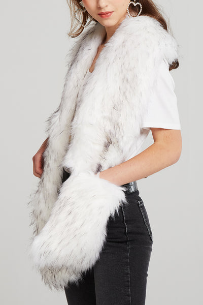 Faux Fur Pocket Muffler