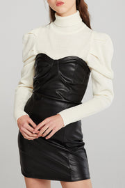 Natalie Pleather Tube Dress