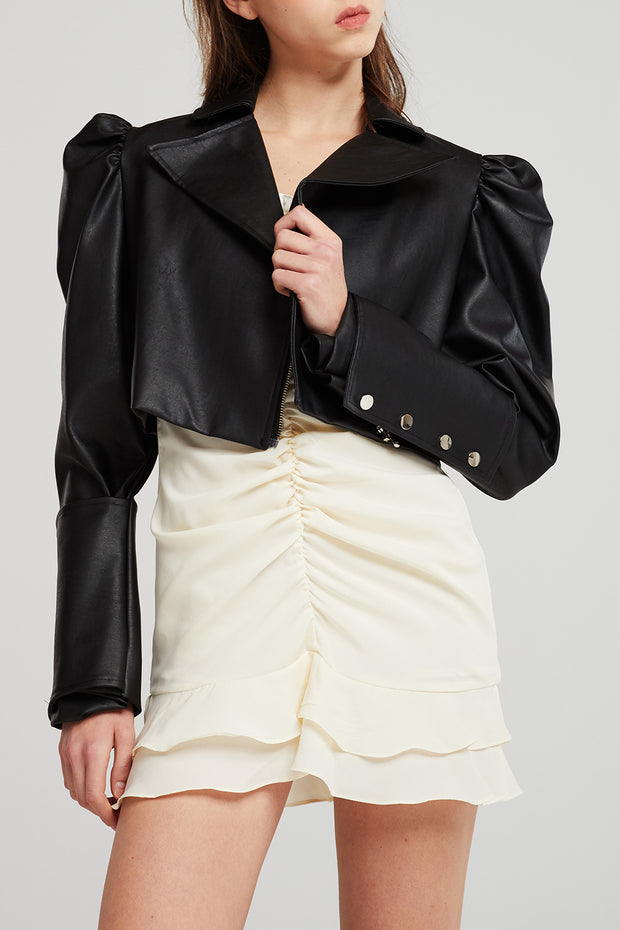 storets.com Katherine Structured Puff Sleeve Crop Jacket