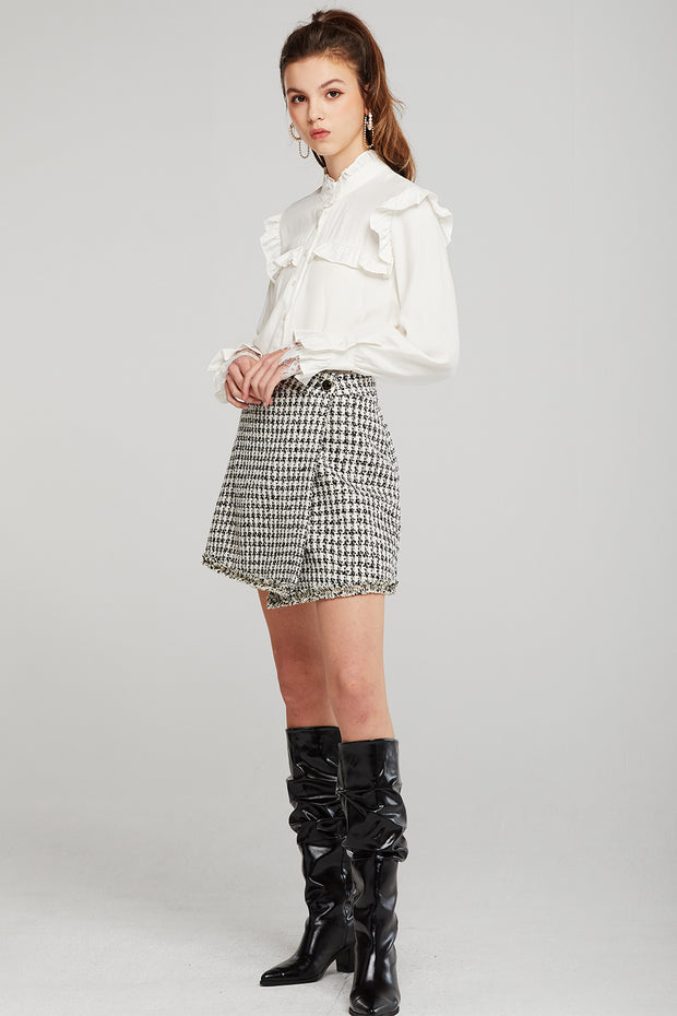 Khloe Tweed Wrap Skirt