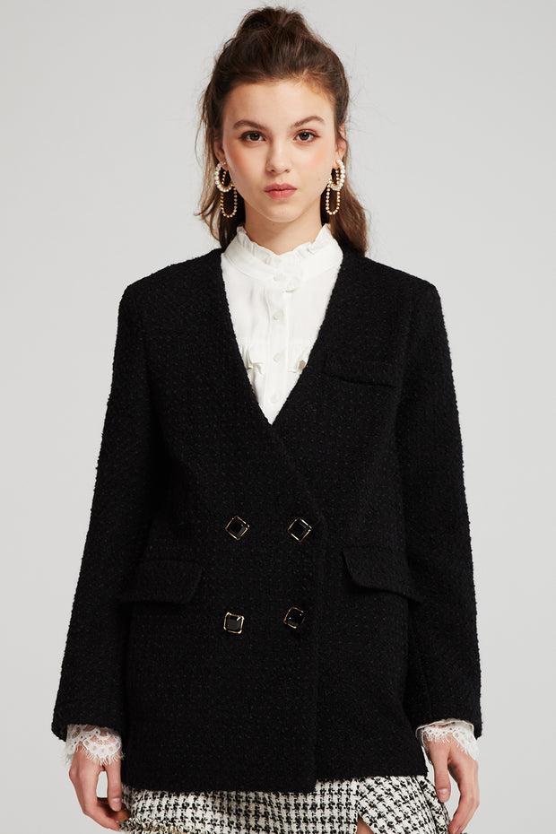 Sky Oversized Tweed Jacket