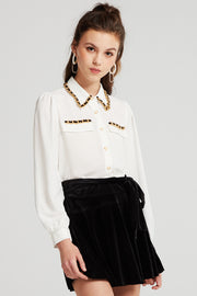 Hazel Chain Braid Blouse