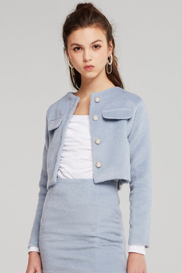 Naomi Fluffy Cropped Jacket