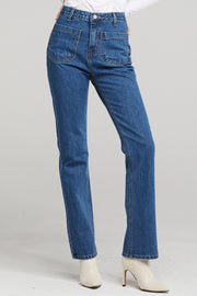 Lilly Pocket Detail Straight Leg Jeans