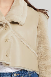 Vivian Structured Shearling Jacket