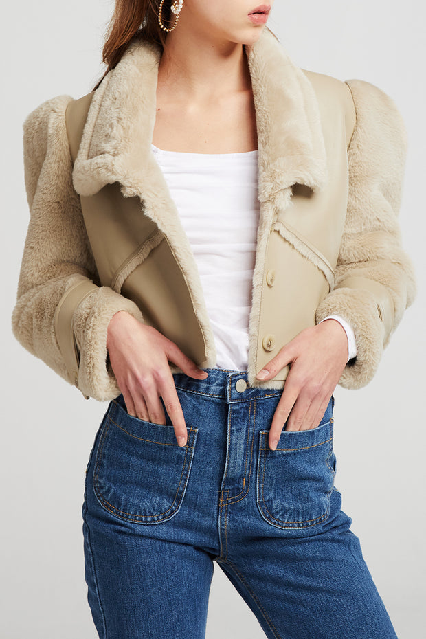 storets.com Vivian Structured Shearling Jacket