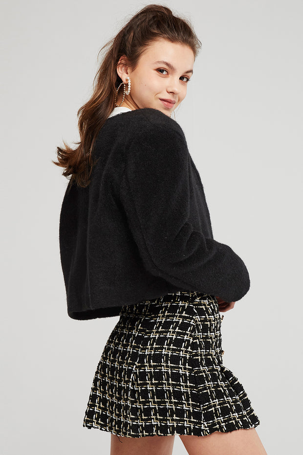 Anna Fuzzy Cropped Jacket