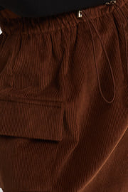 Kaylee Pocket Detail Cord Skirt